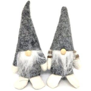 Filc manó figura párban szürke 13-14 cm