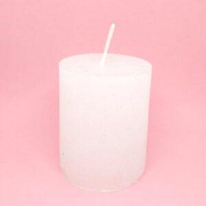 Opálos gyertya vastag henger fehér 5,5 x 7 cm 1 db