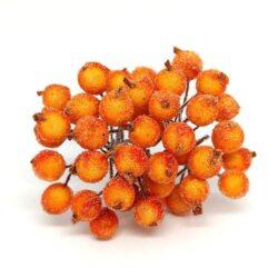 glitteres-betuzo-bogyok-drotszaron-narancssarga-hobbykreativ