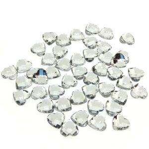 Szív alakú ékkő ezüst 12 mm 10 gr