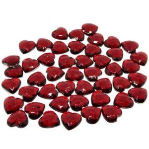 Szív alakú ékkő piros 12 mm 10 gr