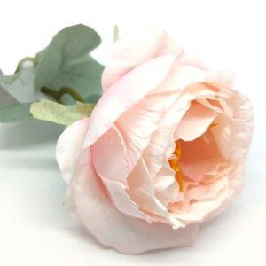 Hamvas levelű selyem bazsarózsa szál rózsaszín
