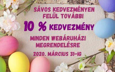 Tavaszi akció!! -10 % kedvezmény a kosárkedvezményen felül