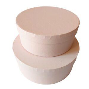 Kör alakú doboz szett rózsaszín 2 db