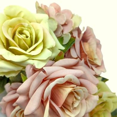 selyem-vintage-rozsa-csokor-borostyannal-pasztell-malyva-zold-1-hobbykreativ
