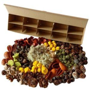 Őszi termés válogatás újrahasznosítható fakkos dobozban