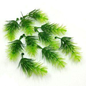 Tűlevelű zöld ágacskák világos és sötétzöld 10 db