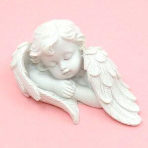 Alvó angyal kerámia figura 8 x 4,5 x 4,5 cm 1 db