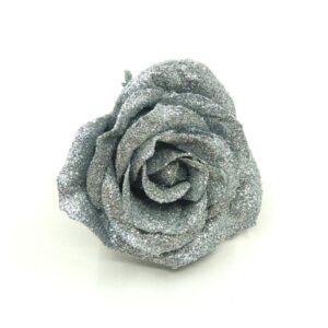 Glitteres illatos rózsa ezüst 60 mm