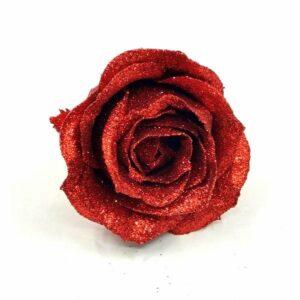 Glitteres illatos rózsa piros 60 mm