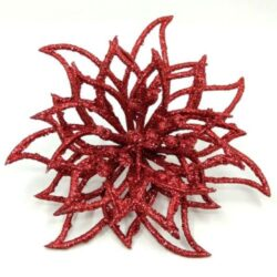 glitteres-mikulasvirag-disz-piros-hobbykreativ