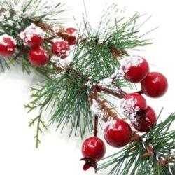 Karácsonyi díszítő zöldek és betűzők