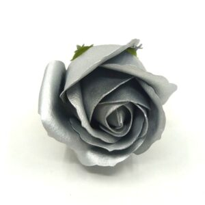 Illatos rózsa matt ezüst 40 mm