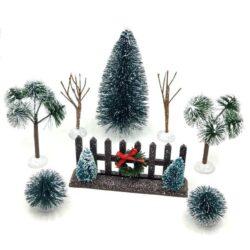 Karácsonyi falu kellékek