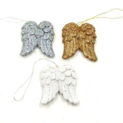 felakaszthato-keramia-angyalszarny-feher-ezust-arany-hobbykreativ