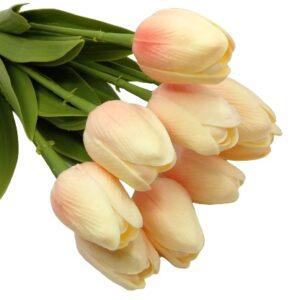 Élethű PU gumis levelű tulipán barack többféle kiszerelés