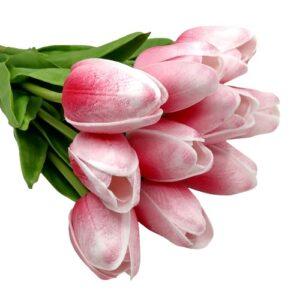 Élethű PU tulipán cirmos kármin piros többféle kiszerelés