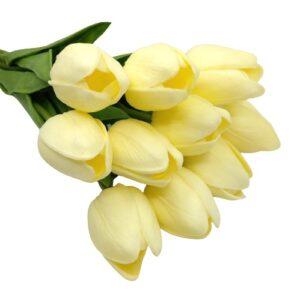 Élethű PU tulipán krém többféle kiszerelés