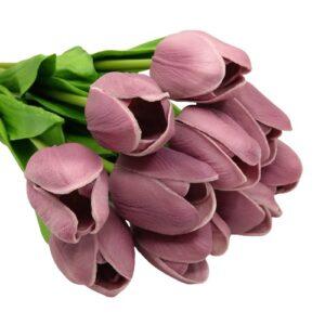 Élethű PU tulipán mályva többféle kiszerelés