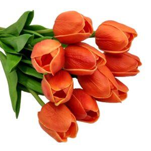 Élethű PU tulipán narancssárga többféle kiszerelés