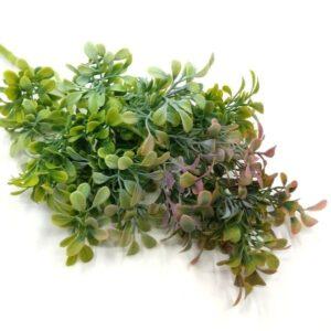 Vastagágú ovális levelű díszítőelem rózsaszínes zöld 4 ágas