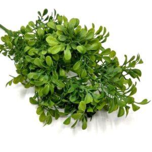 Vastagágú ovális levelű díszítőelem zöld 4 ágas