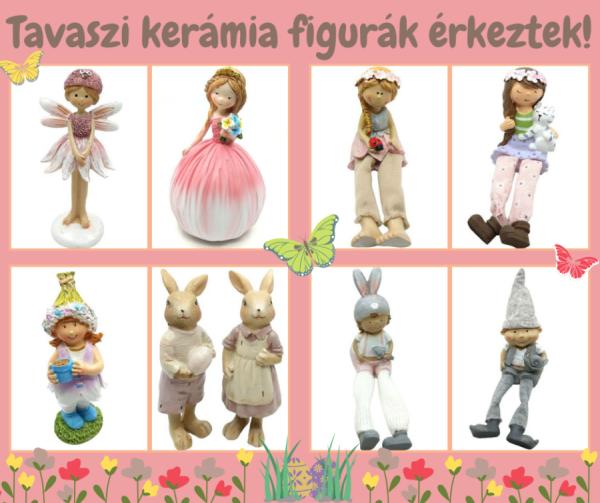 Tavaszi kerámia figurák