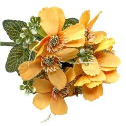 selyem-zinnia-csokor-pasztell-narancs-hobbykreativ