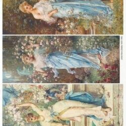 Hans-Zatzka-festmenyei-holgyek-viragokkal-rizspapir-r1706-hobbykreativ