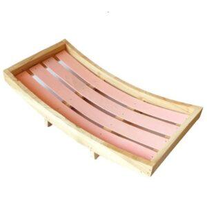 Íves fa tálca rózsaszín belső lécekkel 39,5 x 20,5 cm