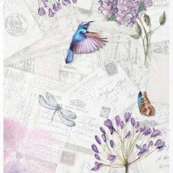 kolibri-pillango-szitakoto-lila-viragokkal-rizspapir-r1063-hobbykreativ
