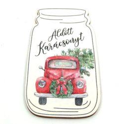aldott-karacsonyt-festett-fatabla-piros-auto-uvegben-hobbykreativ