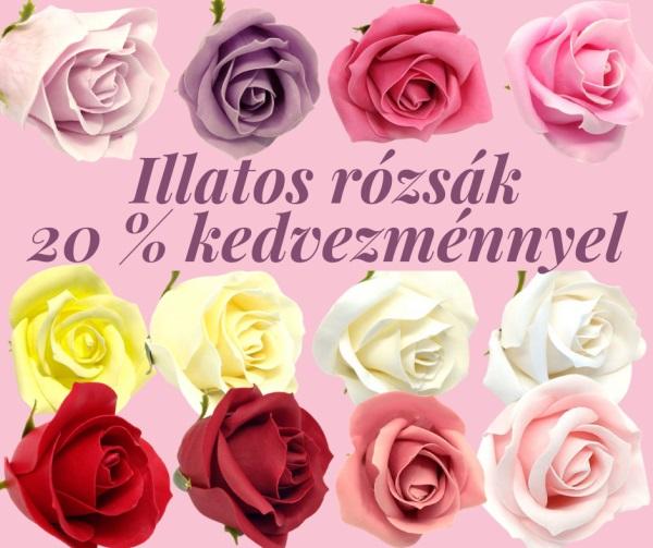 Illatos rózsa akció