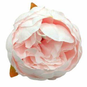 Selyem nagyméretű virágfej pasztell rózsaszín 1 db
