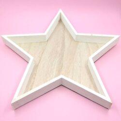 csillag-alaku-festett-feher-fa-tal-nagy-hobbykreativ
