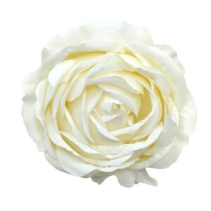 Extra sok szirmú selyem nagy rózsa fej ekrü 1 db