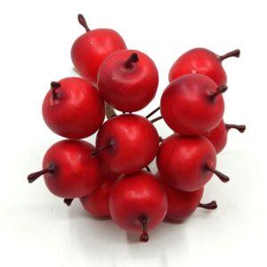 Polifoam piros alma drótszáron matt 2 cm 12 db