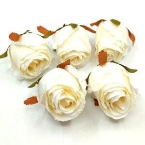 Selyem rózsabimbó old fehér 5 cm 5 db