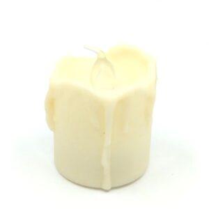 Elemes csurgó gyertya LED világítással lánggal 4,5 cm 1 db