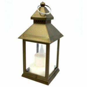 Pagoda ledes lámpás arany 13 x 6 x 6 cm 1 db
