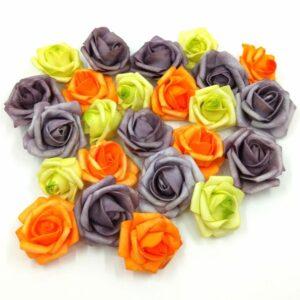Halloween polifoam rózsa vegyes csomag 24 db
