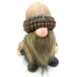 Kerámia manó figura makk kalapban 10,5 cm 1 db
