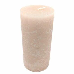 Opálos gyertya extra nagy henger rózsa mályva 4,5 x 9,5 cm 1 db
