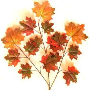 Óriási juhar leveles díszítő ág 3 szálas