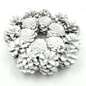 Toboz koszorúalap festett fehér 22 cm