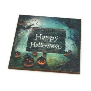 Happy Halloween festett fatábla 5,8 x 5,8 cm 1 db