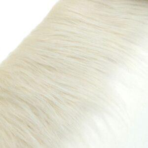 MANÓSZAKÁLL gyapjú fehér rókaszőrből 8 cm x 10 cm